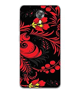 FUSON Designer Back Case Cover for Micromax Canvas Xpress 2 E313 (Cute Paintings Love Pattern Flower Cartoons)