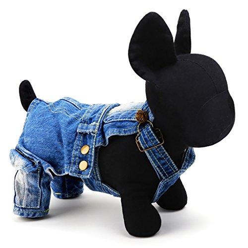 DDI Dog vêtements d'automne et d'hiver fournitures vêtements pour animaux domestiques vêtements pour animaux de compagnie (vêtements Denim) charmant ( taille : S )