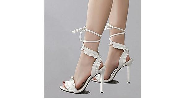 YMFIE L'été européen nouveau lady's sexy sandales et chaussures haute sangle,37 EU,fun color