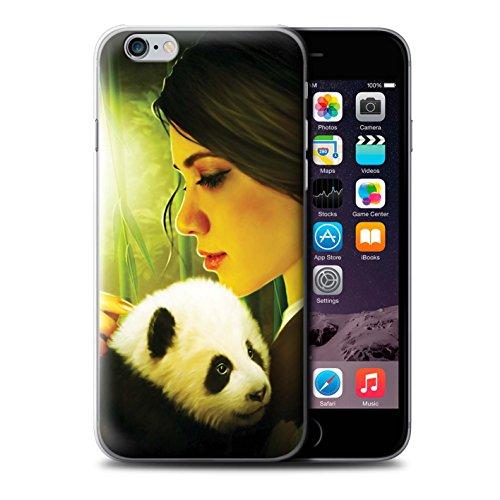 Officiel Elena Dudina Coque / Etui pour Apple iPhone 6S+/Plus / Le Voyageur/Manchot Design / Les Animaux Collection Petit Panda/Bambou