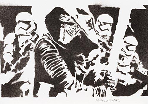STAR WARS Episode VII Das Erwachen Der Macht Handmade Street Art - Artwork - (Kostüm Wars Handmade Star)