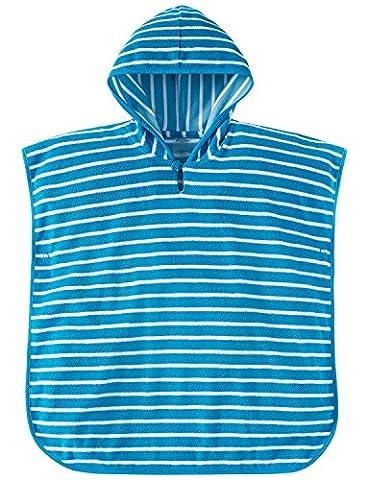 Schiesser Mädchen Bademantel Aqua Bade Poncho Blau (Blau 800), 98 (Herstellergröße: 098)