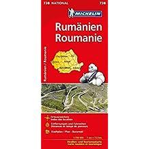Michelin Rumänien: Straßen- und Tourismuskarte 1:750.000 (MICHELIN Nationalkarten)