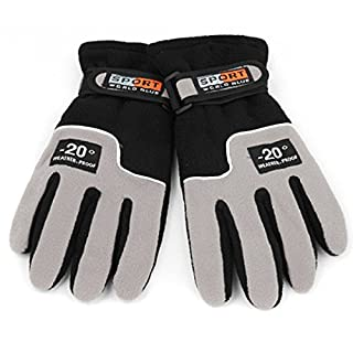 amzwings Winter Handschuhe Touch Screen Winddicht Warm Thermo Ski Outdoor Freizeit Camping Thermo-Handschuhe, grau