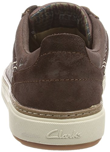 Clarks Lorsen Edge, Baskets Basses Homme Marron (Brown Combi Lea)