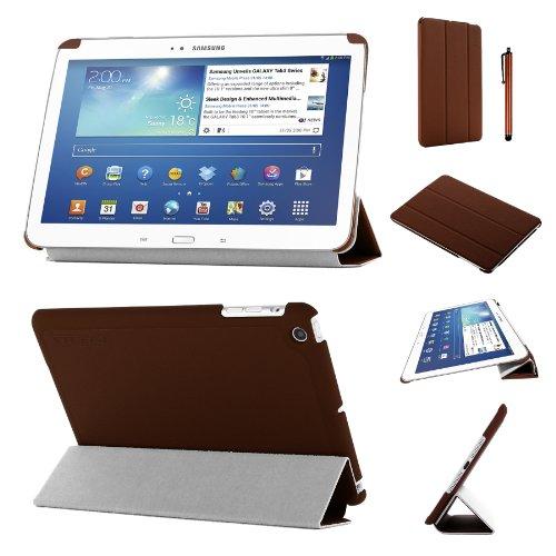 lim zusammenklappbar Multi Position Fall mit Tri Fold Stehen für 17,8cm Samsung Galaxy Tab 3-Braun ()