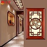 GaoHX Chinese-Style moderni candelabri a muro solido antichi intagliato lampada al posto letto Camera da letto Soggiorno Hallway Lighting