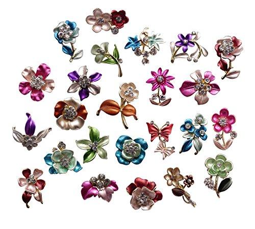 tooky-lot-24-handbemalt-malerei-hochzeit-brautschmuck-blumen-kristall-floria-brosche-bouquet-set