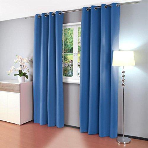 Gräfenstayn alana tende oscuranti, con occhielli,135 x 245 cm, tessuto, blu, 135 x 245