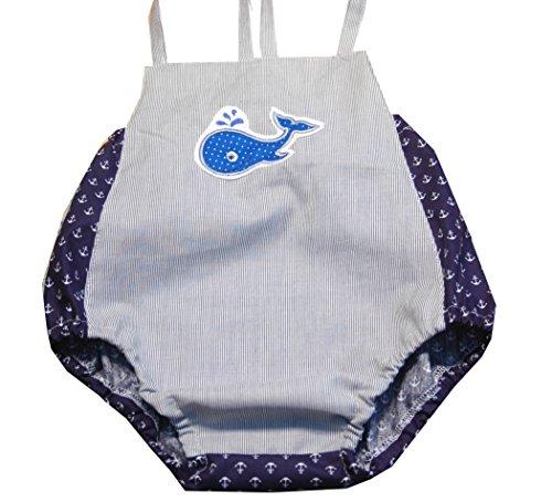 Baby Romper, Strandanzug,Sommer Overall, Romper 6-9 Monate, Handmade Unikat