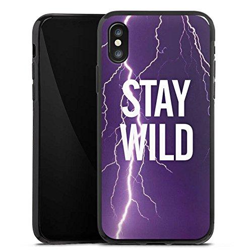 Apple iPhone X Silikon Hülle Case Schutzhülle Wild Sprüche Statement Silikon Case schwarz