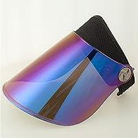 CJC Sol Sombrero Soleado Visera Protección UV Ajustable Ángulo con Tintado  Transparente Cubrir Flexible Venda Uno 5d6a4df7f95