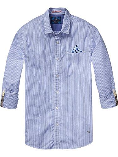 Scotch & Soda Classic Longsleeve Shirt With Fixed Multicolour Pochet-Camicia Uomo    Combo D M