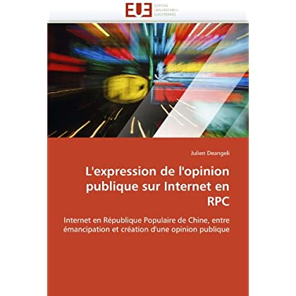 L''expression de l''opinion publique sur internet en rpc