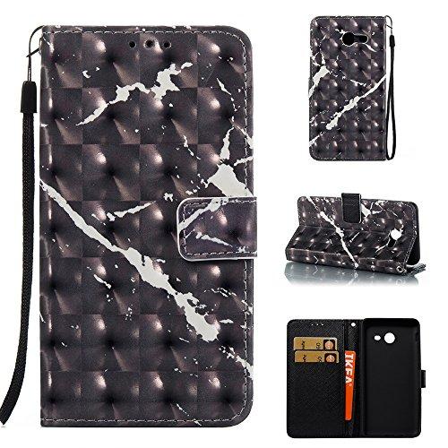 Marmor Stein Grain Texure Muster PU Leder Tasche Cover, Retro Bookstyle Flip Stand Case mit Magnetverschluss & Card Slots & Lanyard für Samsung Galaxy J5 2017 American Version ( Color : F ) F
