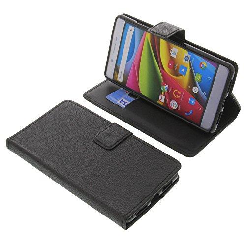 foto-kontor Tasche für Archos 55 Cobalt Plus Book Style schwarz Schutz Hülle Buch