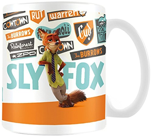 "Pyramid International ""Zootropolis (Sly Fox)"" Official Boxed Ceramic Coffee/Tea Mug, Multi-Colour, 11 oz/315 ml"