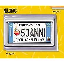 Amazon It Biglietti Auguri Compleanno 50 Anni