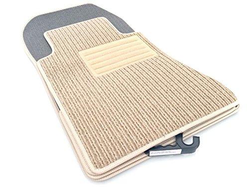 Fußmatten A124 Original Qualität Rips Autoteppich 4-teilig Beige