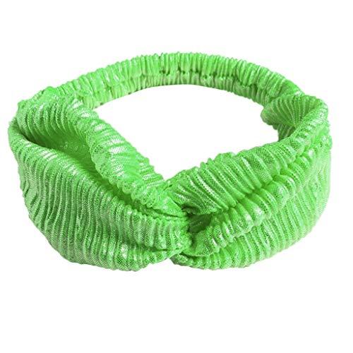 (UEVOS Stirnband Damen Kopfband Baumwolle geknotete elastische Turban Kopf Warp Haarband Yoga Sport Fitness Stirnband)