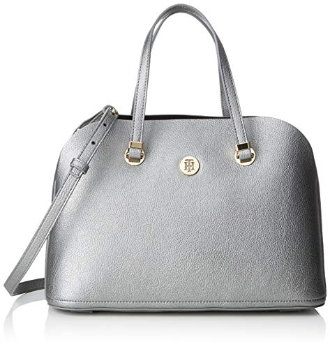 2ecb14b765 Tommy Hilfiger Th Core Satchel - cartella Donna, Argento (Pewter), 15x24x34  cm