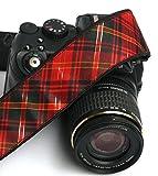 Plaid Kameragurt. DSLR Kamera Gurt. Canon Kamera Gurt. Tartan Kameragurt. Gold Schwarz Rot Kameragurt. Elektronik & Zubehör; 285
