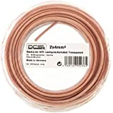 AWG 11 - 2x4mm² - 30m Role | DCSk HiFi Copper Loud Speaker Cable transparent | 99,99% OFC pure Copper