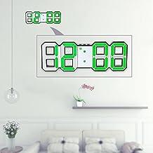 Decdeal - Multifuncional LED Reloj de Pared Digital 12H/24H con Alarma y Snooze,