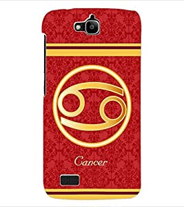 ColourCraft Zodiac Cancer Back Case Cover for HUAWEI HONOR HOLLY