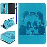 EUWLY Tablet Cover PU Pelle ASUS ZenPad S 8.0 (Z580C/Z580CA), Panda Blu