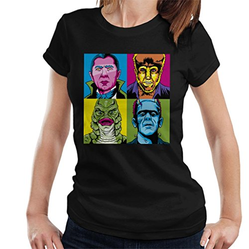 al Monsters Pop Art Women's T-Shirt (Universal Monsters Dracula)