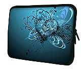 LUXBURG® 8 Zoll Notebooktasche Laptoptasche Tasche aus Neopren Schutzhülle Sleeve für Laptop / Notebook Computer - Blaues Herz