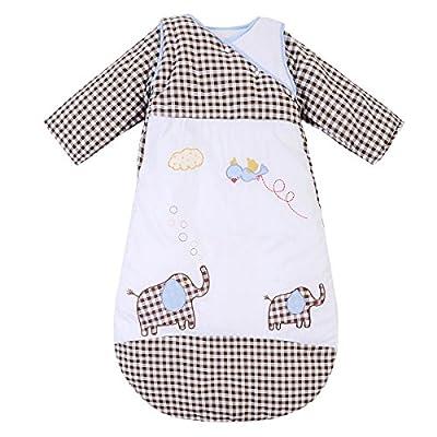 Happy Cherry - Saco de Bebés Niños de Dormir Larga Manga Manta Invierno Algodón - Elefante - 6 meses-2 años / 1-5 años / 3-6 años