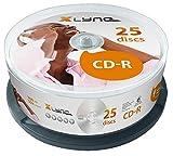 xlyne CD-R 700 MB CD-ROM Rohlinge – 25er Cakebox – 52x Speed – 80 Min – Optical Media, Audio, Film, Foto