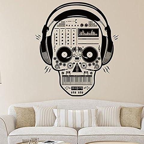 HLHN Happy Halloween Skeleton Skull Removable Wallpaper Household Home Wall Sticker Poster Acrylic Mural Decoration for Bedroom Livingroom Bathroom Kitchen