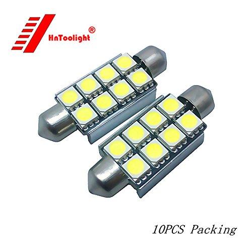 10x LED 41mm Blanc CANbus C5W Ampoules 5050SMD Lumières Intérieures Plaque D'immatriculation Lumière Pour Voiture E39 (Blanc)