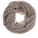 AdoniaMode Damen Loop Schlauch-Schal Hals-Tuch luftig leicht mit Seide Blümchen Muster 15-02
