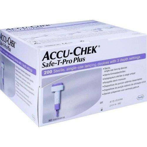 Accu-Chek Safe-T-Pro Plus - Lancetas desechables (200 unidades)