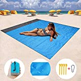 "ZMZTec Sand Free Beach Blanket 82""x79"" Beach mat Waterproof and Sand Proof, Quick"