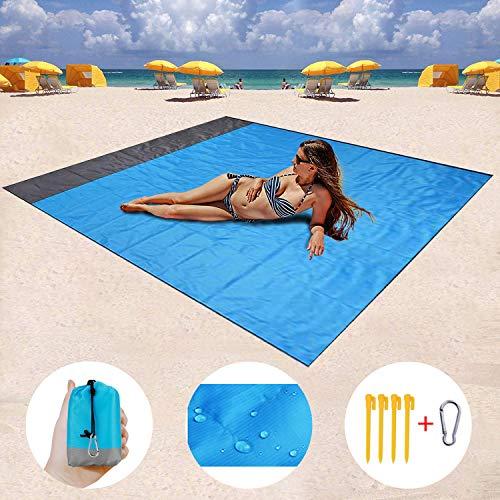 ZMZTec Picknickdecke, Stranddecke Strandtuch, Wasserdichte sandabweisende Camingmatte, schnell troknend und kompakt Campingdecke für Reisen, Camping, Wandern (200 * 210)