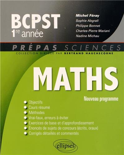 Maths BCPST 1re Anne Programme 2013