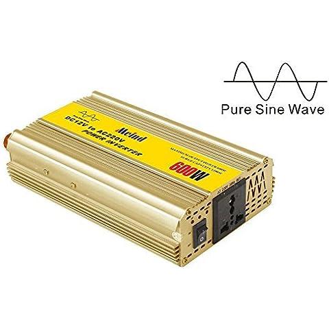 MEIND pura inversor de onda sinusoidal 600W DC 12V a la CA 220V 230V 240V convertidor