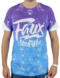 Friend Or Faux Romero Mens T Shirt Purple / Blue Fade
