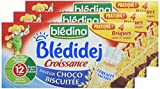 Blédina Blédidej 12 briques Croissance Céréales Lactées Saveur Choco-Biscuitée dès 12 mois (Pack de 3x4 briques)