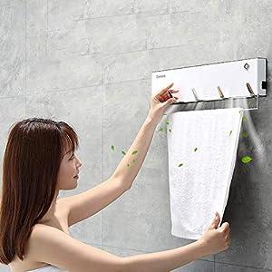 ZUZEN Toallero eléctrico Control de Temperatura Inteligente Secado esterilización Toallero de Secado de Acero Inoxidable…