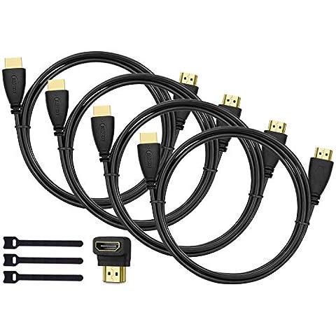 Perlegear HDMI Kabel 2m 4er Pack! Lang HDMI Kabel mit