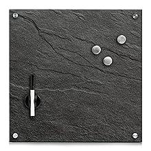 Memobord - Lavagnetta in ardesia e, antracite, ca. 40 x 40 cm