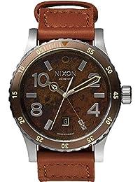 Nixon Diplomat A2691958-00 - Reloj para hombres, correa de cuero color marrón
