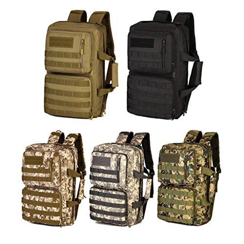 Gazechimp 35 Liter Mehrzweck Taktischer Molle Rucksack Reisetasche Sporttasche - Militärischer Wanderrucksack, Trekkingrucksack, als Computer Tasche Schwarz