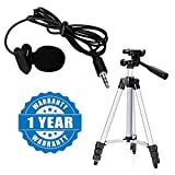 #2: Drumstone Microphone Mini Hands Free Clip On Lapel Mic for Cameras Recorders, Pcs with Tripod- 3110 Portable & Foldable Camera Mobile Tripod Compatible with All Smartphones (One Year Warranty)